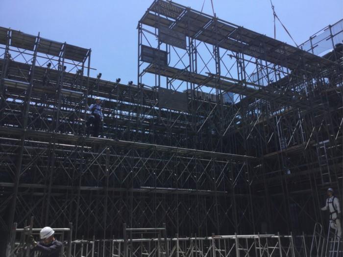 2018年6月支保工組み立て中(某所)