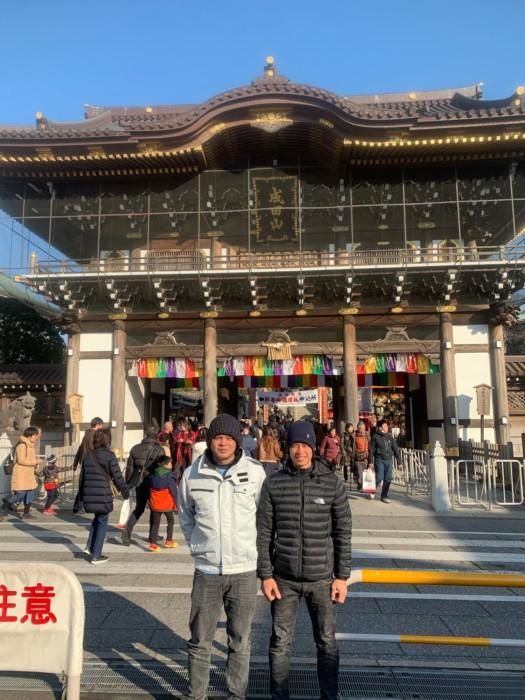 ベトナム人実習生と共に成田山へ!